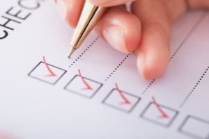 Making a list can help you keep track of what tasks you need to get done first and which tasks can wait.