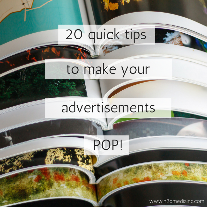 20 Tips To Make Your Advertisements POP!