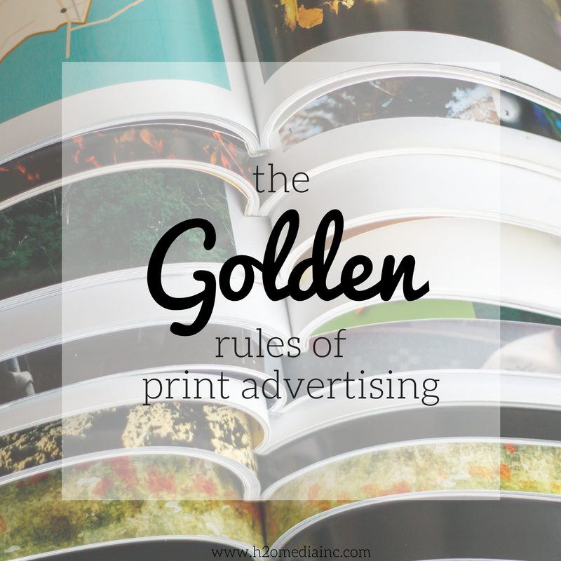 The Golden Rules Of Print Advertising